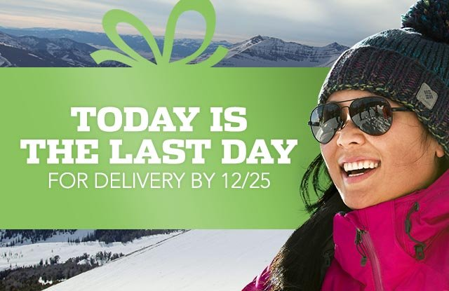 Today is the last day for delivery by 12/25