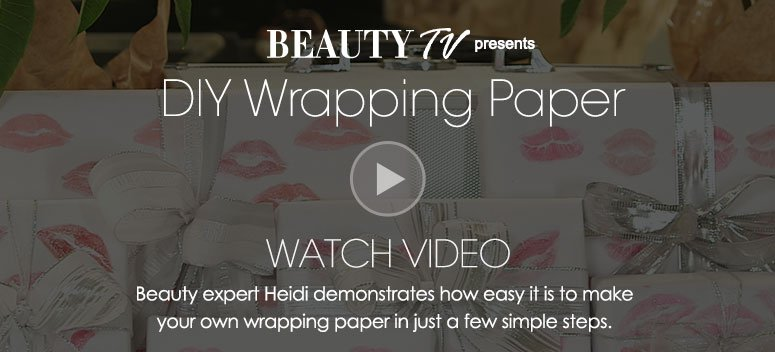 DIY Wrapping PaperDeck: Beauty expert Heidi demonstrates how easy it is to make your own wrapping paper in just a few simple steps.  Watch Video>>