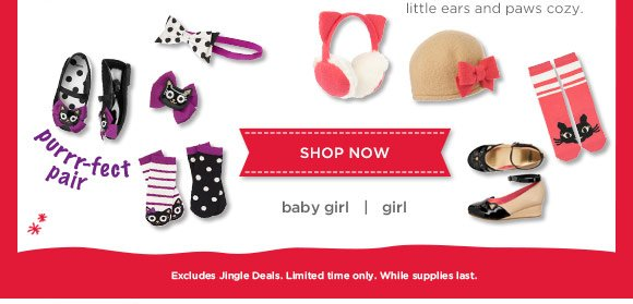 Playful Picks! Find matching pieces to keep little ears and paws cozy. Excludes Jingle Deals. Limited time only. While supplies last.