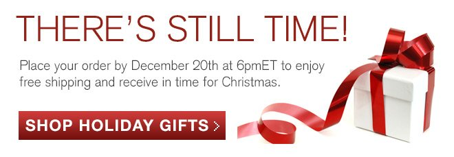Place your order by December 20th at 6pmET to enjoy free shipping and receive in time for Christmas.