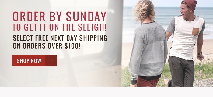 Order by Sunday to get it on the sleigh! Select free next day shipping on orders over $100