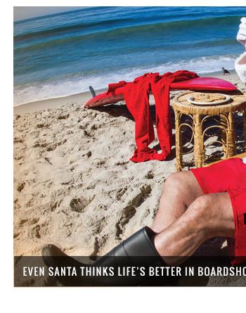 Even santa thinks life's better in boardshorts