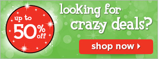 Looking for crazy deals? Up to 50% off!