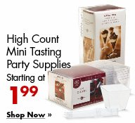 High Count Mini Tasting Party Supplies