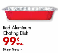 Red Aluminum Chafing Dish