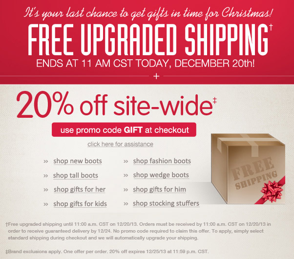 Free Upgraded Shipping Ends at 11am CST Today!