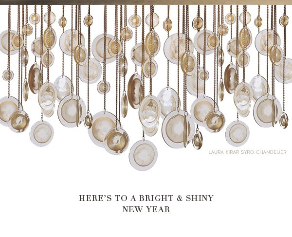 Here's To A Bright & Shiny New Year (Laura Kirar Syro Chandellier)
