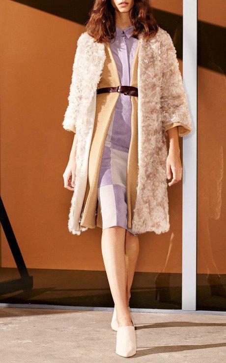 Mohair Fur Cardigan Coat