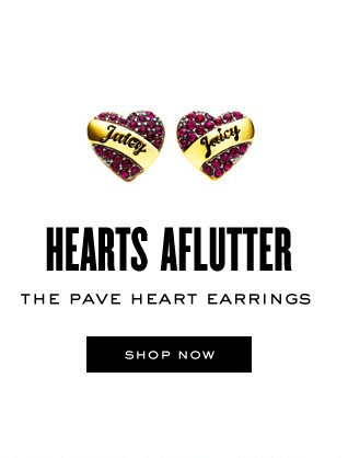 HEARTS AFLUTTER. The Pave Heart Earrings. SHOP NOW.