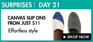 Canvas Slip Ons from just $11