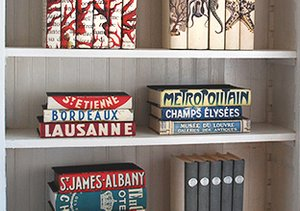 Dress Up a Shelf: Decorative Books