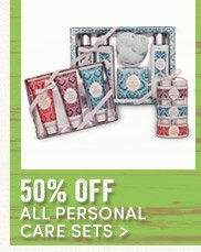 50% off All Personal Care Sets