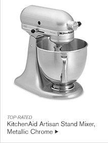 TOP-RATED - KitchenAid Artisan Stand Mixer, Metallic Chrome