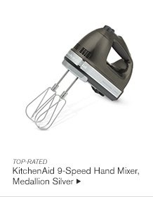 TOP-RATED - KitchenAid 9-Speed Hand Mixer, Medallion Silver