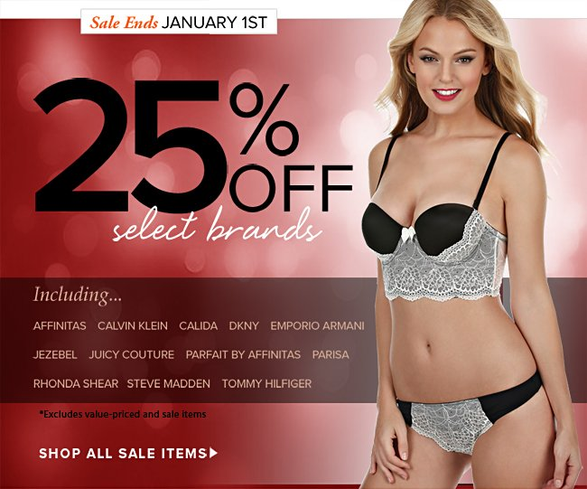 25% Off Select Brands
