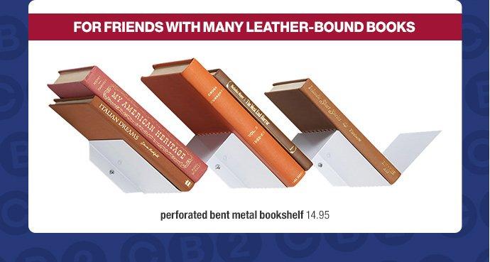 perforated bent metal bookshelf 14.95