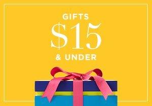 Gifts $15 & Under