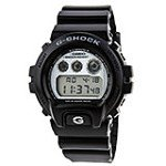 Casio DW6900HM-1 Men's G-Shock Black Resin Multifunction Alarm World Timer Watch
