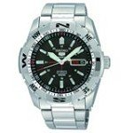 Seiko SNZJ05 Men's Sports 5 Stainless Steel Bracelet Black Dial Automatic Watch