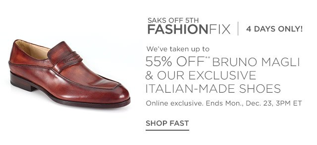 Up to 55% off Bruno Magli & more