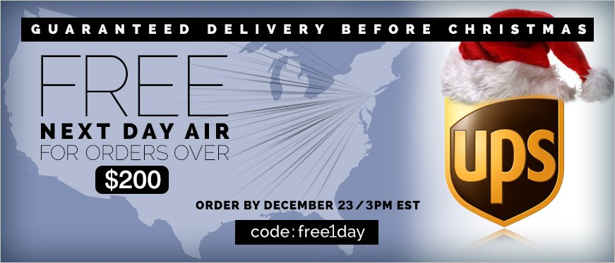 Free Next Day Air For Orders Over $200 - Use Code FREE1DAY