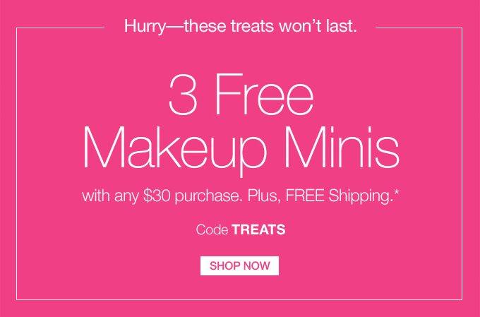 3 FREE Makeup Minis