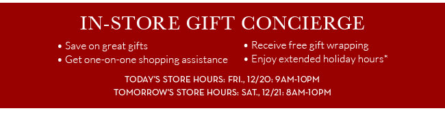 IN-STORE GIFT CONCIERGE
