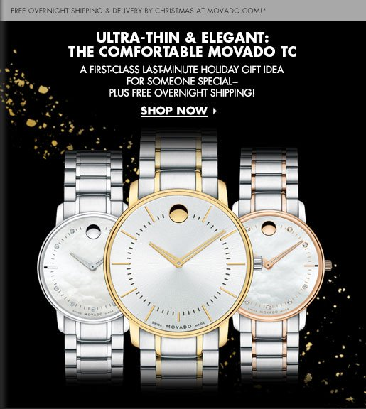 ULTRA-THIN & ELEGANT: THE comfortable MOVADO TC  - SHOP NOW!