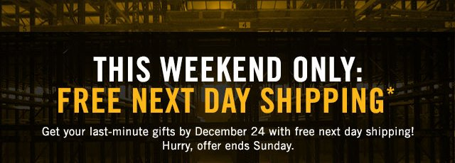 FREE EXPRESS SHIPPING* TODAY ONLY!
