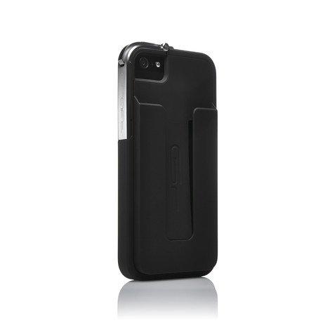 Leverage Case for iPhone 5/5S // Black, Matte + Credit Card Holder