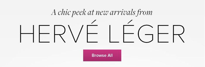 HERVE LEGER - Browse All