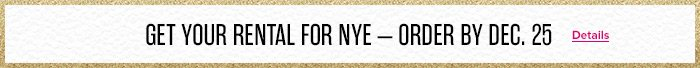 Get Your Rental For NYE
