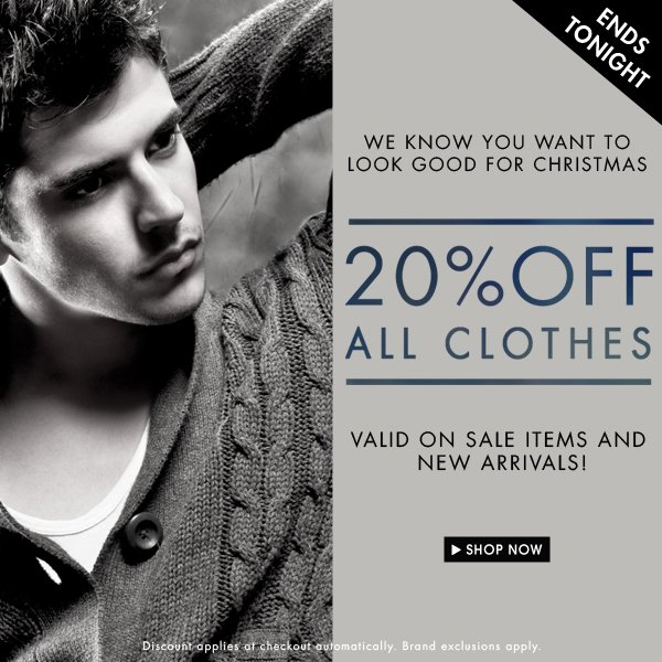 20% off All Clothes!