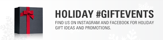 Find us on Instagram and Facebook for Holiday Gift Ideas and Promotions