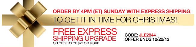 Order by 4PM Sunday with Express Shipping to Get it in Time for Christmas! Free Express Shipping Upgrade on orders of $25 or more