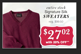$27.02 USD - Signature Silk Sweaters