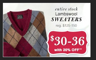 $30-36 USD - Lambswool Sweaters