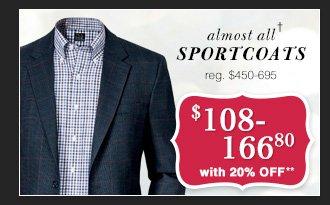 $108-166.80 USD - Sportcoats