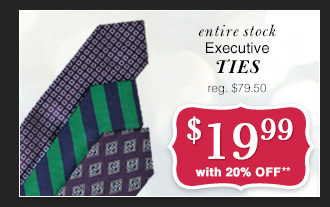 $19.99 USD - Executive Ties