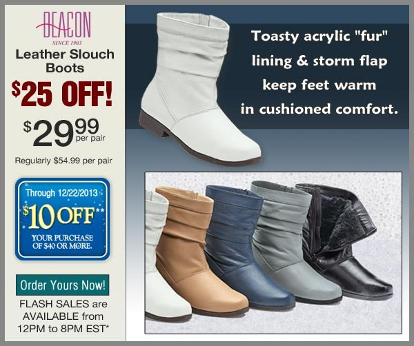 $25 OFF Slouch Boots