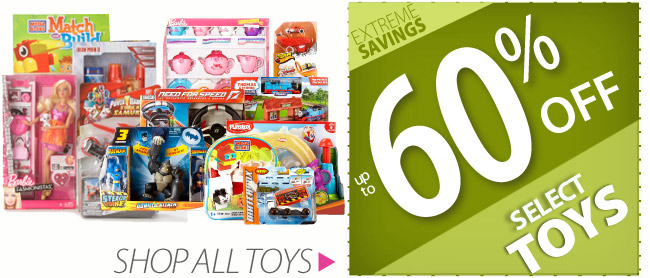 Up to 60% off Toys
