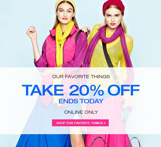 20% OFF ENDS TODAY