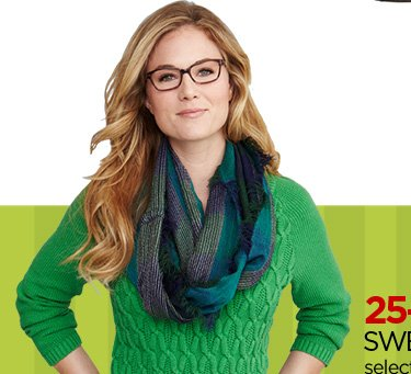 25-50% OFF SWEATERS FOR HER select styles