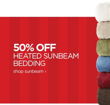 50% OFF HEATED SUNBEAM BEDDING shop sunbeam ›