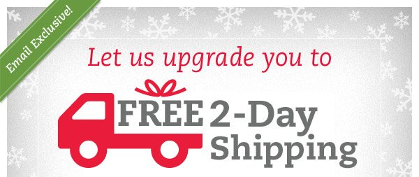 Email Exclusive! Let us upgrade you to FREE 2-Day Shipping