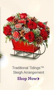 Traditional Tidings™ Sleigh Arrangement Shop Now