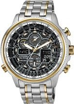 Men's Citizen Navihawk Alarm Chronograph Eco-Drive
