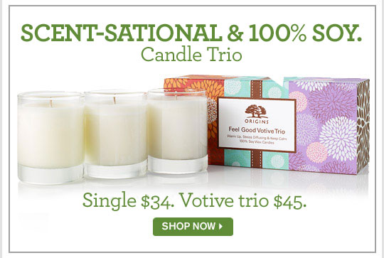SCENT SATIONAL AND 100 percent SOY Candle Trio Single 34 dollars Votive trio 45 dollars SHOP NOW