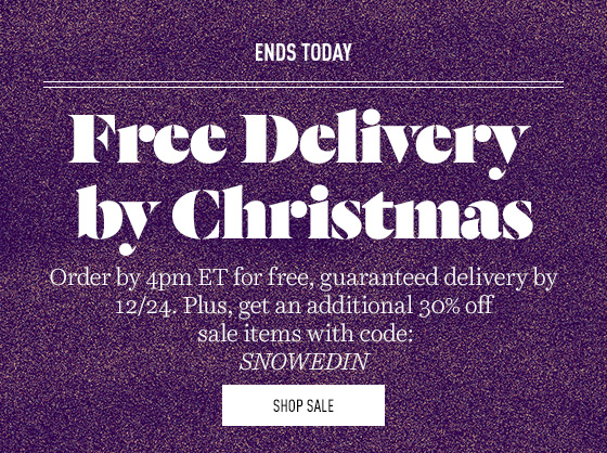 Free shipping ends today