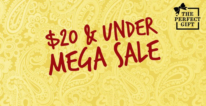 Mega Sale: $20 and Under